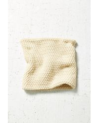 Urban Outfitters | White Seed Stitch Funnel Scarf | Lyst