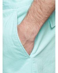 Maison Kitsuné - Green Cotton-twill Bermuda Shorts for Men - Lyst