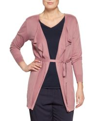 Sandwich - Pink Long Cotton Cardigan - Lyst