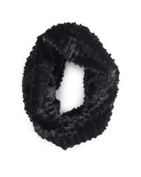 Forever 21 - Black Faux Fur Infinity Scarf - Lyst