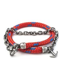 Anchor & Crew | Orange All Red Barmouth Rope Bracelet for Men | Lyst