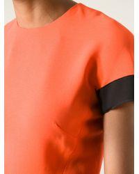 Victoria Beckham - Orange Crew Neck Dress - Lyst