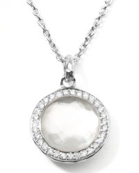 Ippolita | Metallic Stella Lollipop Pendant Necklace In Mother-Of-Pearl Doublet With Diamonds | Lyst