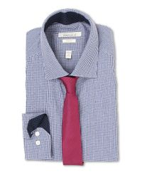 Perry Ellis - Blue Slim Fit Print Check Shirt for Men - Lyst