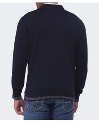 BOSS Green - Blue Crew Neck Rime Jumper for Men - Lyst