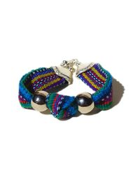Ix Style | Blue Multicolored Knotted Bracelet | Lyst