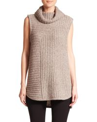 Theory - Gray Beylor Sleeveless Turtleneck - Lyst
