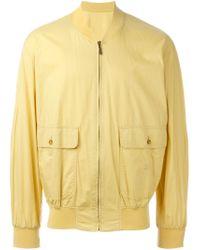 Burberry - Yellow Lightweight Zip Jacket for Men - Lyst