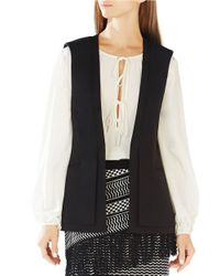 BCBGMAXAZRIA | Black Eddie Double-layer Vest | Lyst