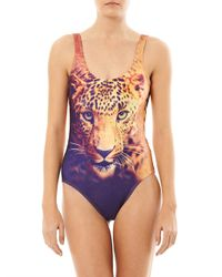 We Are Handsome - Multicolor Victory Print Swimsuit - Lyst
