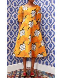 Tata Naka - Orange Wallpaper Full Skirt Dress - Lyst