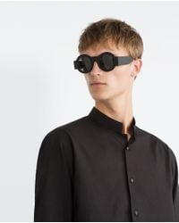 Zara | Black Poplin Shirt for Men | Lyst