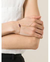Delfina Delettrez | Metallic 'kiss My Hand' Lips Bracelet | Lyst
