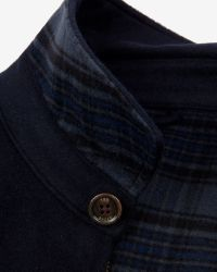 Ted Baker - Blue Drawn Wool Harrington Jacket for Men - Lyst