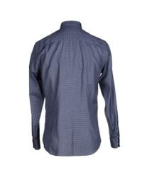 Armani - Blue Shirt for Men - Lyst