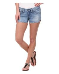 True Religion - Blue Joey Cut Off Shorts In Medium Drifter - Lyst