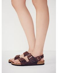 Free People | Purple Milano Birkenstock | Lyst