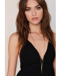 Nasty Gal | Metallic Luv Aj Spiked Chain Necklace | Lyst