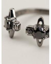 Vivienne Westwood - Black 'Reina' Ring - Lyst