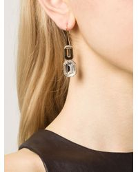 Rebecca - Metallic 'elizabeth' Drop Earring - Lyst