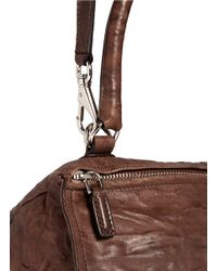 Givenchy - Brown 'pandora' Small Washed Lambskin Leather Bag - Lyst