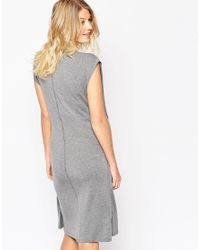 ASOS | Gray Nursing Dress With Wrap Overlay | Lyst