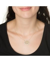 Kacey K | Metallic Script Monogram Necklace | Lyst