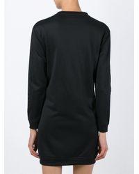 KENZO - Black Embellished Sweatshirt Dress - Lyst