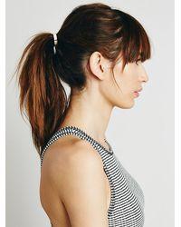 Free People | Metallic Leatherette Hair Tie | Lyst