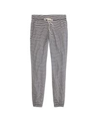 J.Crew - Blue Whisper Jersey Drapey Sweatpant In Stripe - Lyst