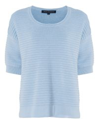 French Connection - Gray Heatwave Dinka Ribbed Jumper - Lyst
