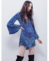 Free People | Blue Spell & The Gypsy Collective Womens Kiss The Sky Bell Sleeve | Lyst