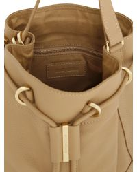 See By Chloé | Natural Small Vicki Grained Leather Bucket Bag | Lyst