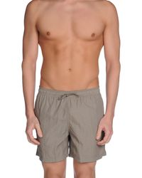 Armani - Gray Swimming Trunk for Men - Lyst