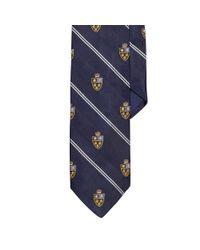 Polo Ralph Lauren - Blue Heraldic Silk Repp Tie for Men - Lyst