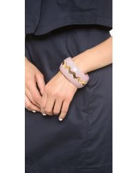Marc By Marc Jacobs - Sawtooth Nesting Bangle Bracelet Adobe Pink - Lyst