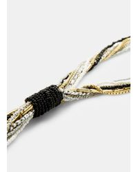 Violeta by Mango | Metallic Bead Chain Necklace | Lyst