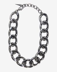 Fallon | Metallic Chunky Chain Link Biker Choker | Lyst