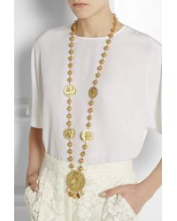 Dolce & Gabbana - Metallic Goldtone Coin Necklace - Lyst
