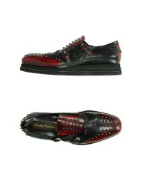 Cesare Paciotti - Red Moccasins for Men - Lyst