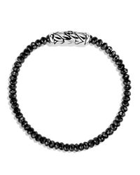 David Yurman | Spiritual Beads Bracelet With Black Spinel | Lyst