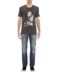 Dolce & Gabbana - White Mosaic Bullfight Cotton T-shirt for Men - Lyst
