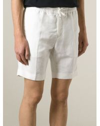 Emporio Armani - White Bermuda Shorts for Men - Lyst
