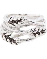 Aurelie Bidermann | Metallic Silver Wheat Ring | Lyst