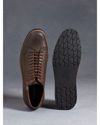 John Varvatos | Brown Barrett Creeper Low Top Sneaker for Men | Lyst