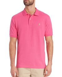 Polo Ralph Lauren - Pink Slim-fit Polo for Men - Lyst