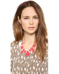 kate spade new york - Pink Day Tripper Necklace - Lyst