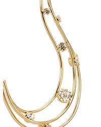 Vickisarge - Metallic Fallen Angel Crystal-Embellished Earrings - Lyst