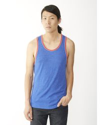 Alternative Apparel - Blue Double Ringer Eco-jersey Tank Top for Men - Lyst