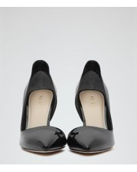 Reiss - Black Blake High-back Court Shoes - Lyst